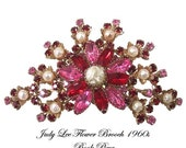 Vintage Judy Lee Flower Pin Brooch Book Piece