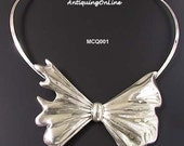 RESERVED for irisng210 Vintage Sterling TAXCO MEXICO Bow Tie Collar Necklace