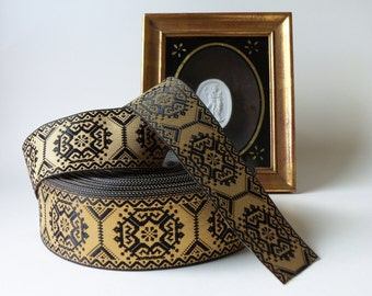 vintage black and gold trim (sold by the yard - price is for 1 yard)