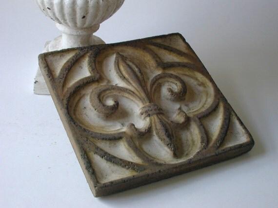 cement fleur de lis tile