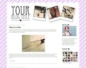 Premade Blogger Template // Snap It Purple