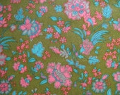 flower power fabric  2.22 yds