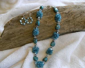 Blue Turquoise Fringe