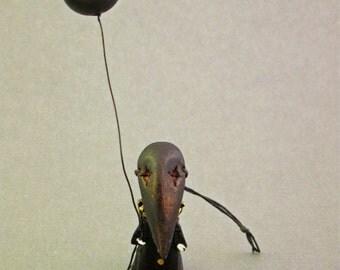 Crow Mask Funeral Poppet - Lisa Snellings