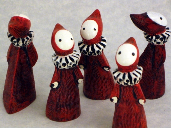 SALE  Classic Little Red Poppet