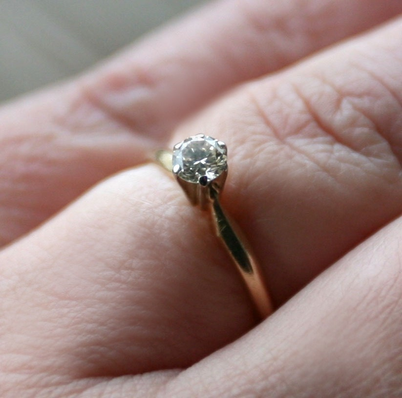 Carat diamond solitaire engagement ring by ceasefireheirlooms