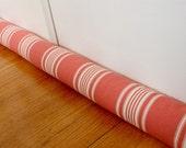 Door Draft Stopper, Draft Snake, Tomato Red, Stripes, 143.