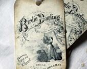Vintage Inspired Hang Tag Birdie Darling Gift Tag