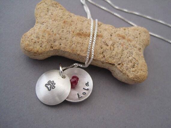 Custom Personalized Pet Domed Locket - Memorial Locket - Keepsake - Locket Necklace - Personalized Charm - Birthstone Locket