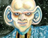 Original Painted Portrait of DS9 Character Quark