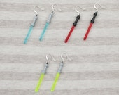 jedi lightsaber earrings
