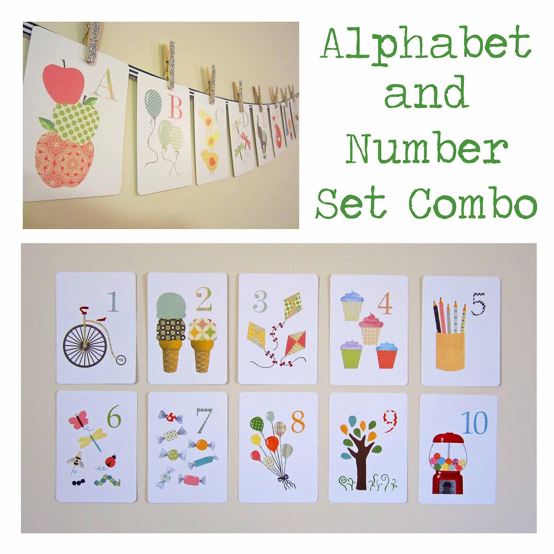 Baby Nursery Art Print Dog Abc Nursery Decor Alphabet Print: Chandeliers & Pendant Lights