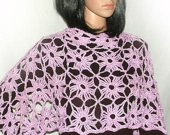 Crochet Pattern, Crochet Lace Pattern Crochet motif for scarf, shawl, wrap, vests & tops PDF Instant Digital download