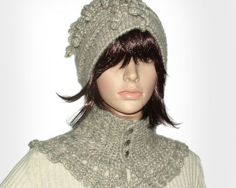 Crochet Beanie, crochet Cowl Scarf Patterns  PDF instant Digital download