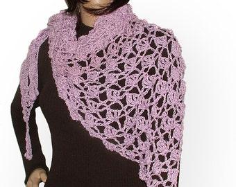 Crochet Pattern, Crochet Lace Pattern for Scarf Shawl Wrap Instant Digital PDF download
