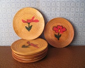 Wooden Floral Coasters