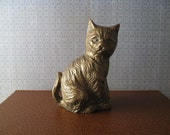 Small Brass Cat