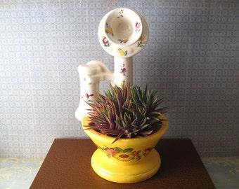 Floral Telephone Planter