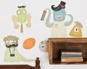 Makin' Monsters - Reusable Fabric Wall Decals
