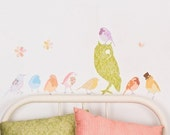 Fabric Wall Decal - Twitters Girly (reusable) NO PVC
