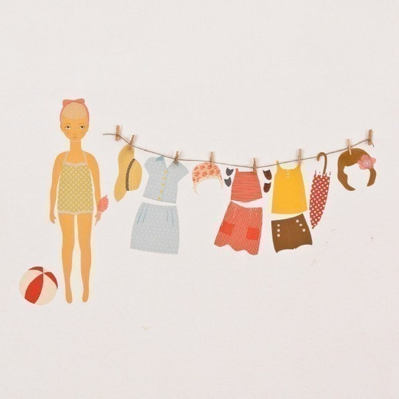 Items Similar To Sale Wall Decals Paper Doll Reusable And