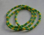 Green and Yellow Book Bracelet Bookmark- Donate to Cystic Fibrosis