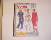 Never Used  Burda Plus Sizes Womens Semi-Fitted Pantsuit Sewing Pattern 3740