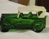 "Vintage Avon Decanter Green Car Maxwell ""23 With Box"
