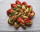 Lovely Vintage Crocheted Pinwheel  Pot Holder Hot Pad