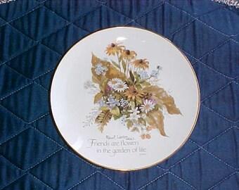 Vintage Lasting Memories Plate Friendship