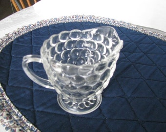 Vintage Clear Bubble Glass Anchor Hocking Creamer