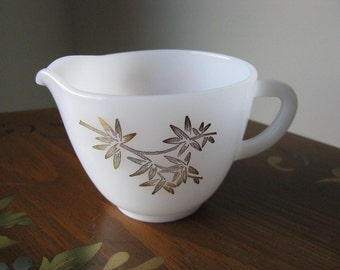 Vintage Cream Pitcher by Federal Glass Co Golden Glory Pattern