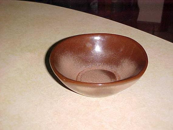 Vintage Frankoma 2 Tone Brown Bowl/Dish 5 X 5 Nice