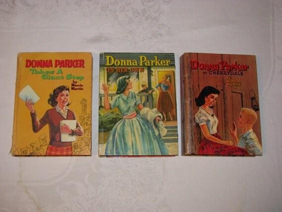 Vintage Set Of 3 1950s and 1960s Donna Parker Novels