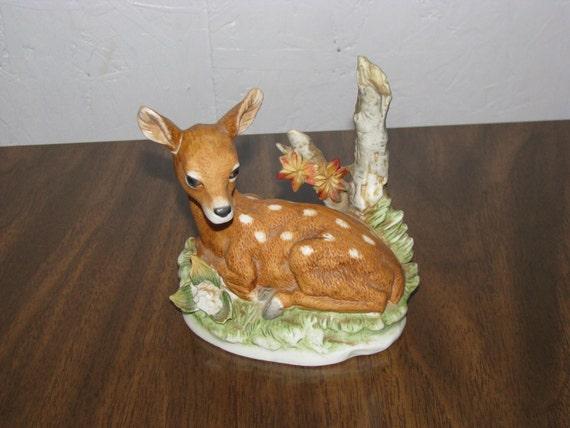 Vintage Homco Home Interiors Deer Figurine Number 8879