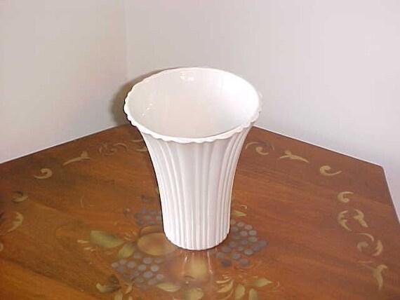 RESERVED for Kandi Rosenbalm...........Vintage Large Ribbed White Milk Glass Vase