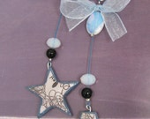Stars and Letter Earrings