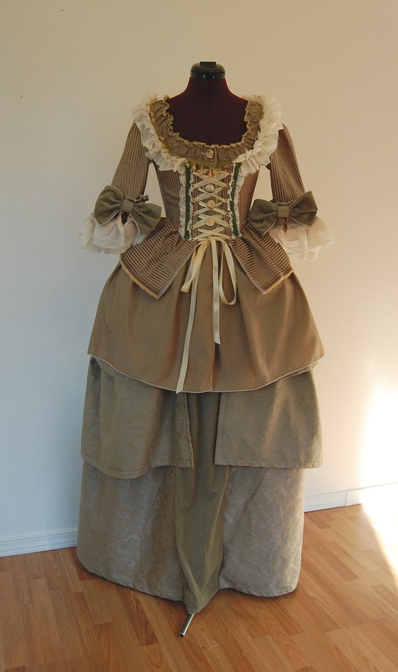 steampunk Marie Antoinette rococo Victorian inspired dress fits waist 26 to 27 inches comes with hips