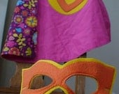 Super Hero Cape and Mask with Design