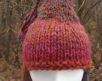 PIXIE EAR FLAP Hat Knitting Pattern  for Adult