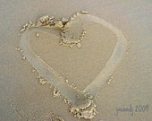 Sand Heart Card Love