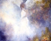 Guardian Angel Fine Art Print Greeting Card The Guardian Signed by Marina Petro
