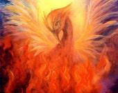 Phoenix Rising Fine Art Print Greeting Card Signed by Marina Petro