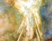 Angel Art, Art Card Blank card Greeting Cards, Angel Print, Spiritual, Greeting Cards, Fine Art Cards, Notecards
