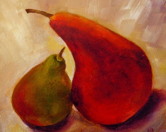 Kitchen Decor, Still Life, Kitchen Art, Food Art, Pear Painting, Still Life painting, fruit still life, wall art,