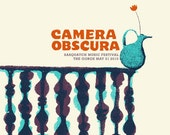 Camera Obscura Screen printed Gigposter.