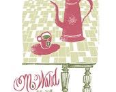 M. Ward screen printed gig poster