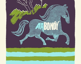 AA Bondy screen printed gig poster