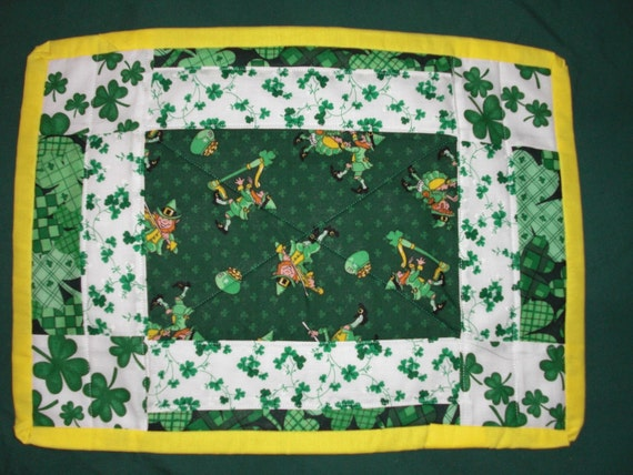 st patrick 39 s day placemats a touch of the irish by sewnjust4u