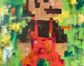 Super Mario Bros Pixel Painting